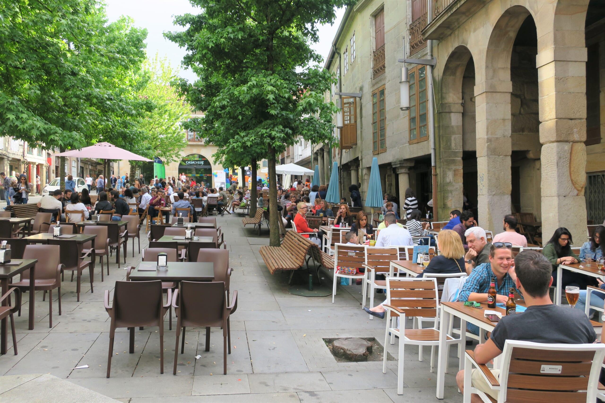 北スペインの観光スポットであるガリシアのポンテベドラ