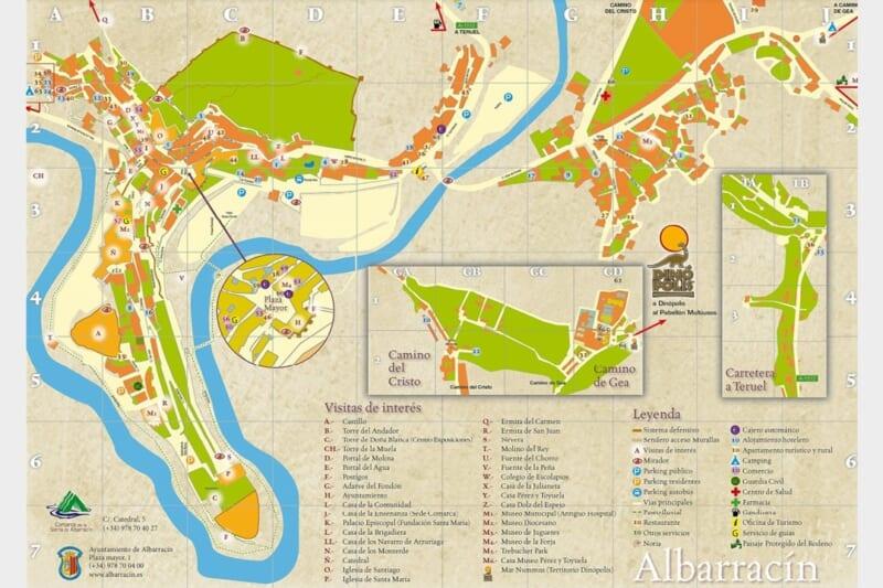 アルバラシンの地図(スペイン、アラゴン州)Albarracin map